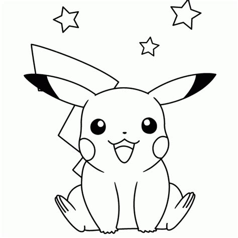 dibujos pikachu  dibujar imprimir colorear  recortar facilmente pikachu drawings