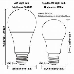 A21 Light Bulb Dimensions From Usa Torchstar 100w Equivalent 15 5w Dimmable Led