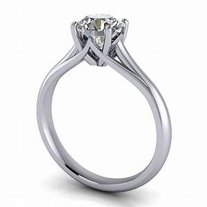 Solitaire Moissanite Engagement Ring - Giselle ...