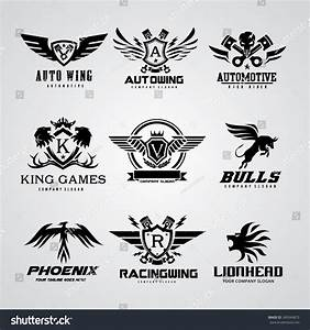 Logo Collection Set Automotive Skull Rock Stock Vector ...