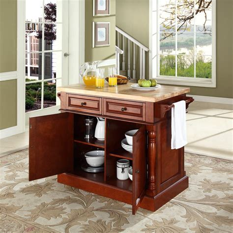 crosley butcher block kitchen island by oj commerce 699 00