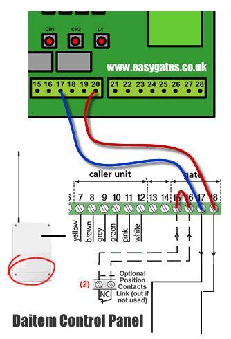 connecting logisty daitem intercom  cb control panel