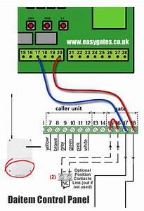 Connecting Logisty    Daitem Intercom To Cb11 Control Panel