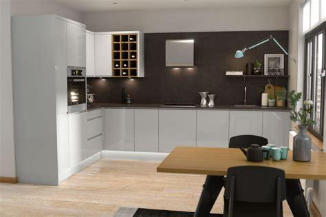 Jpull Pebble & White Gloss  Wren Kitchens