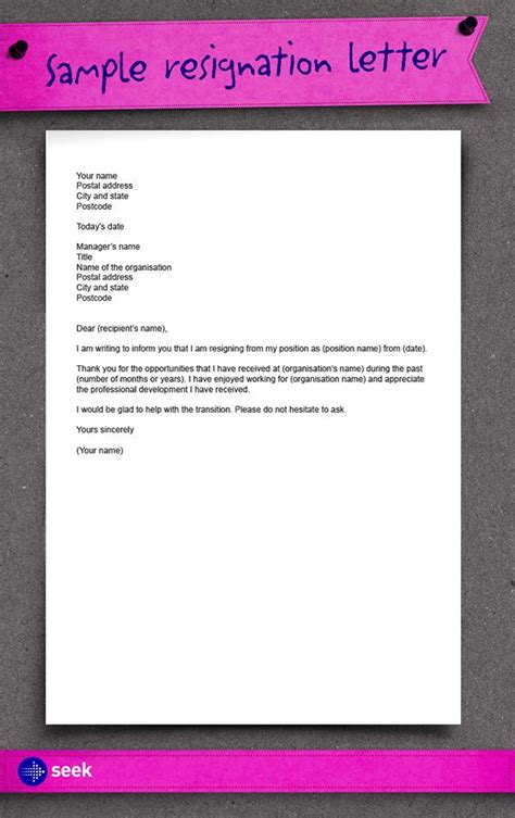 25 best ideas about professional resignation letter on