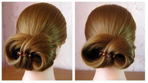 tuto coiffure simple chignon facile et rapide cheveux