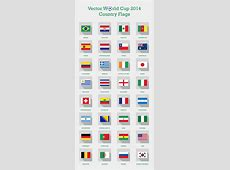 Free Vector Fifa World Cup 2014 Teams Country Flags PNG