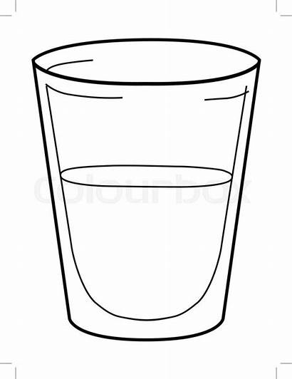 Glass Outline Shot Vektor Gesund Kalt Template