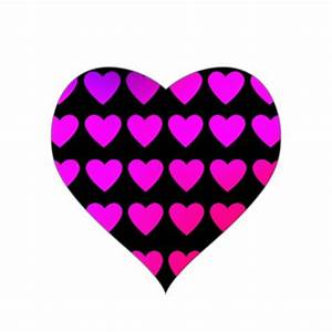 Cute hot pink and purple hearts sticker from Zazzle ...