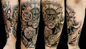 22+ Clock Gear Tattoos Ideas