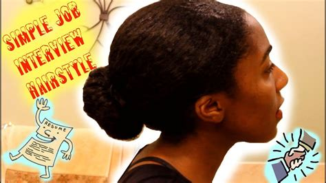 Job Interview Hairstyle For Natural Hair