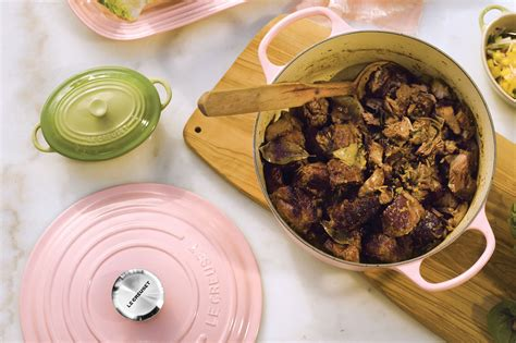 creuset iron le cast cookware signature piece hibiscus dutch oven round longer quart cutlery cutleryandmore