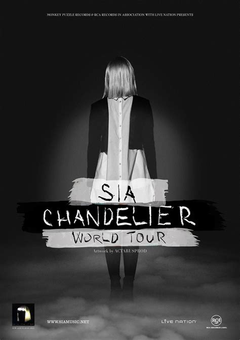 Chandelier Sia Album by Sia Chandelier Tour Promo Poster On Behance