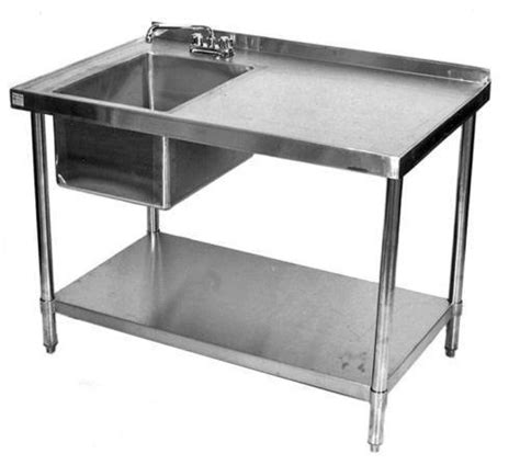stainless steel food prep table with sink stainless steel table sink ebay
