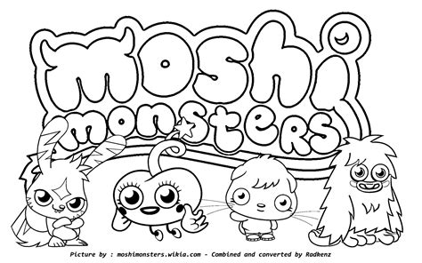 pooky mioshi free colouring pages
