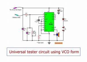 Simple Universal Tester Circuit With Vco
