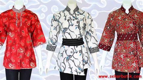 baju batik wanita modern model terbaru baju blus batik