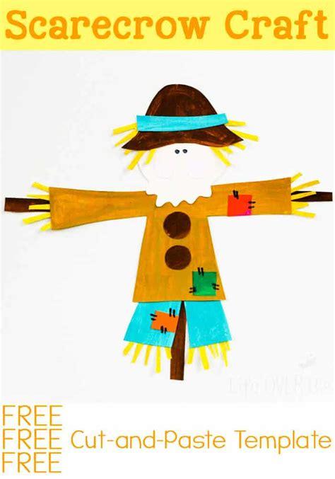 cut  paste scarecrow craft  fall
