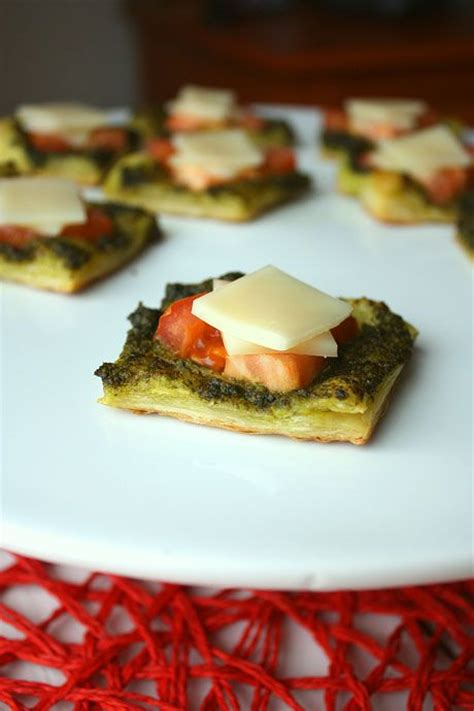 puff pastry canapes ideas pesto puffs appetizer puff pastry pesto tomatoes and