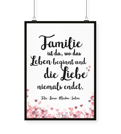 familie ist da wo das leben beginnt und die liebe niemals