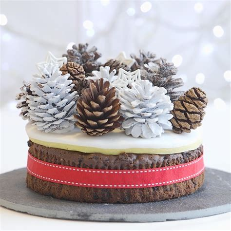 easy christmas cake decoration ideas