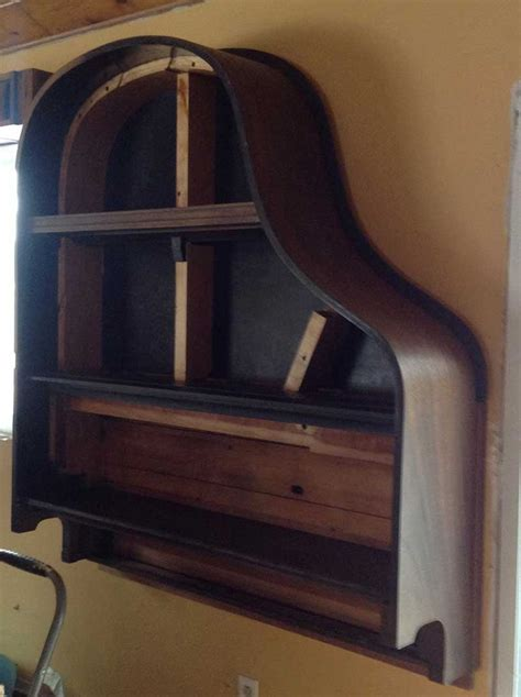 building  piano bookcase    steps