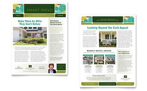 real estate newsletter template design