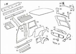 Car Exterior Body Parts Diagram