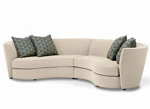 Curved sectional sofa tjihome for Curved sectional sofa for small space