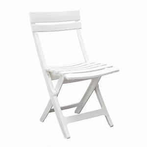 Chaise De Jardin Miami Pliante Blanc 49036004 Achat