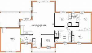 plan maison etage 4 chambres 1 bureau ventana blog With plan maison 3 chambres 1 bureau