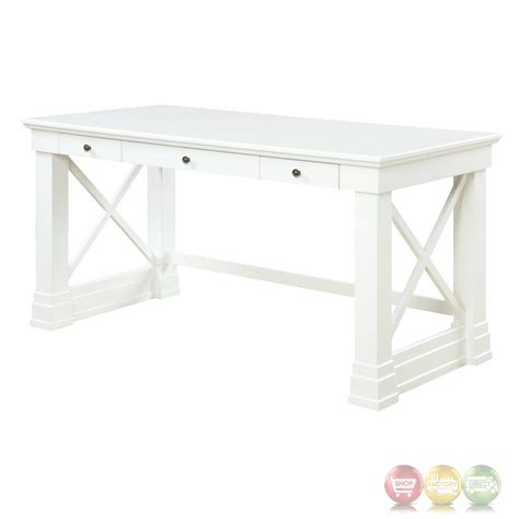 white writing desk with drawers johansson antique white 3 drawer 60 quot writing desk