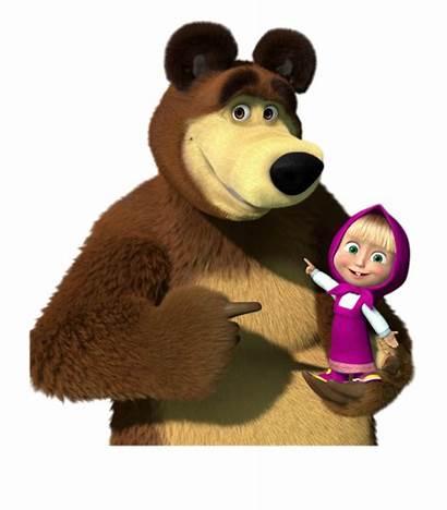 Masha Bear Holding Oso Cartoongoodies Arm Birthday