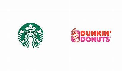 Starbucks Dunkin Swap Brand Donuts Logos Brands