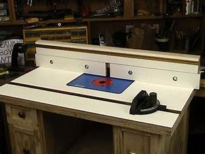 Router table top and fence - YouTube