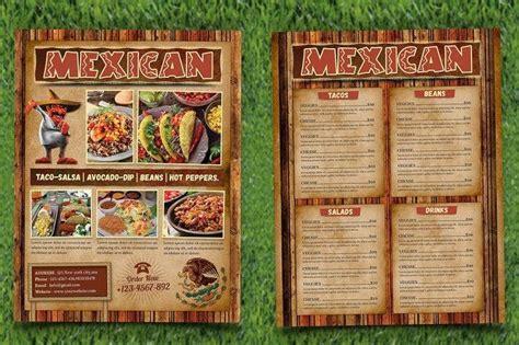 mexican restaurant menu  flyer templates psd