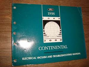 1998 Ford Continental Wiring Diagrams Manual Mwi