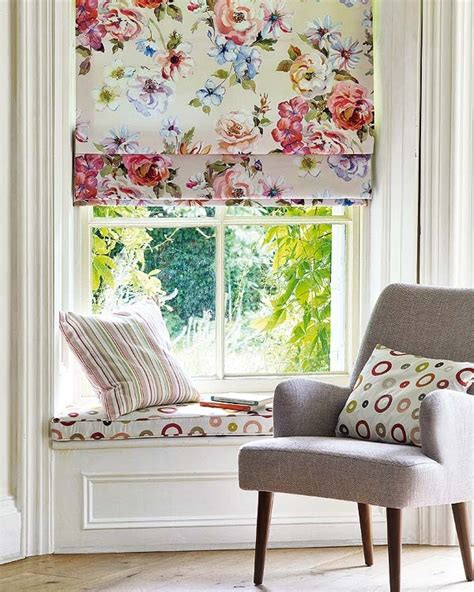 Shades Ideas Stunning Printed Fabric Roman Shades Fabric