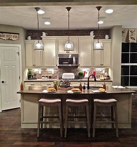 rustic red stained wooden island for kitchen under black With kitchen cabinets lowes with t light candle holders