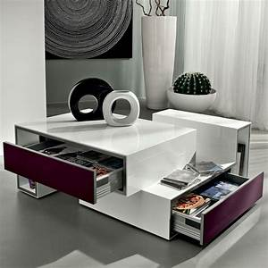 Table Basse Avec Tiroir : table basse design avec tiroir marika ~ Teatrodelosmanantiales.com Idées de Décoration
