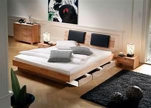 Bett Design Holz : bett mit bettkasten eine gute platzsparende idee ~ Frokenaadalensverden.com Haus und Dekorationen