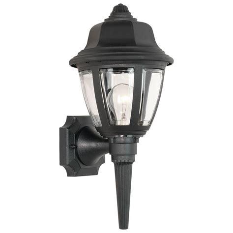 thomas lighting 1 light black outdoor wall lantern