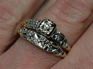 vintage wedding rings set ornate two tone with old mine With purpose of wedding ring