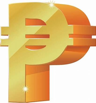 Peso Symbol Icon Gold 3d Vector Currency