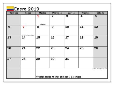calendario enero colombia michel zbinden es
