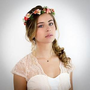 Couronne De Fleurs Mariage Petite Fille : couronne de fleurs cheveux mariage ~ Dallasstarsshop.com Idées de Décoration