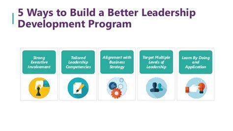 ways  build   leadership development program
