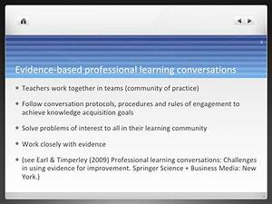 Taking evidence-based professional learning conversations ...