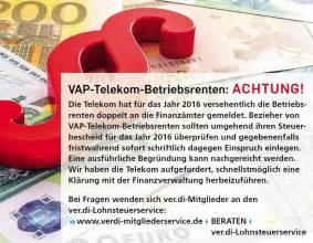 Einspruch Steuerbescheid Begründung : vap telekom betriebsrenten achtung ~ Frokenaadalensverden.com Haus und Dekorationen