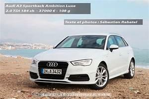 Audi A3 Design Luxe : essai audi a3 sportback 2 0 tdi 184 ambition luxe ~ Dallasstarsshop.com Idées de Décoration